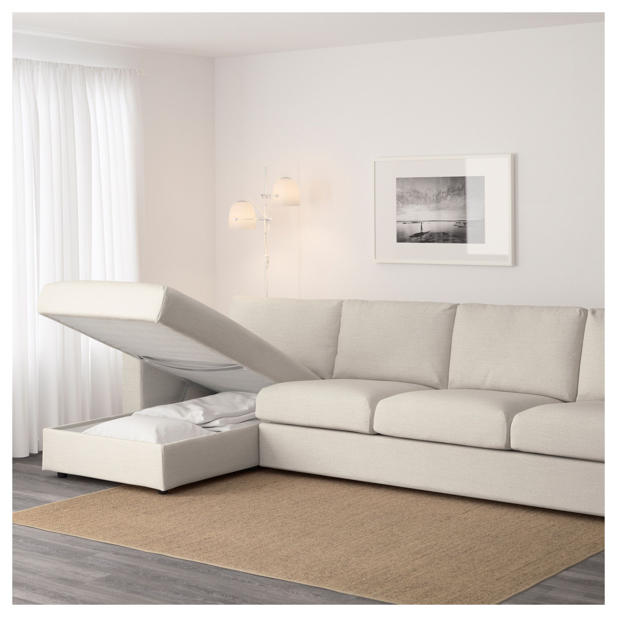 Ikea Sofa 4 Seater Ikea Vimle Sectional 4 Seat With Chaise Gunnared Beige