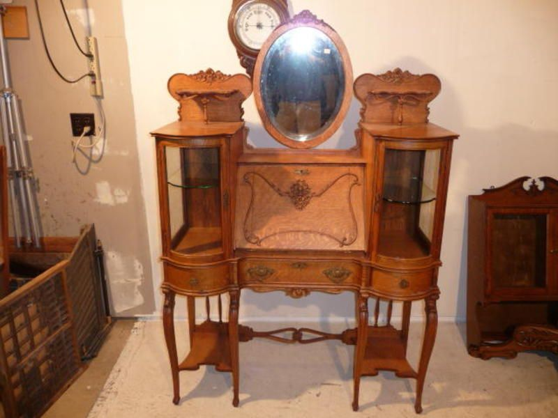 Rare Double Curio Desk Hobbit House Oak Furniture Curio