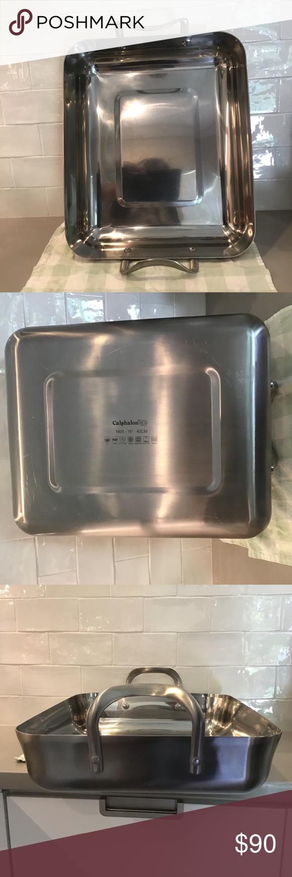 Pin On My Posh Picks Calphalon contemporary stainless roasting pan with rack