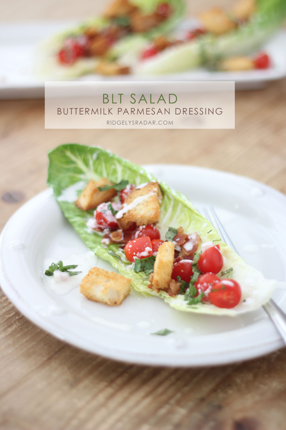 Blt Salad With Buttermilk Parmesan Dressing And Buttery Croutons Recipe Blt Salad Easy Salads Salad
