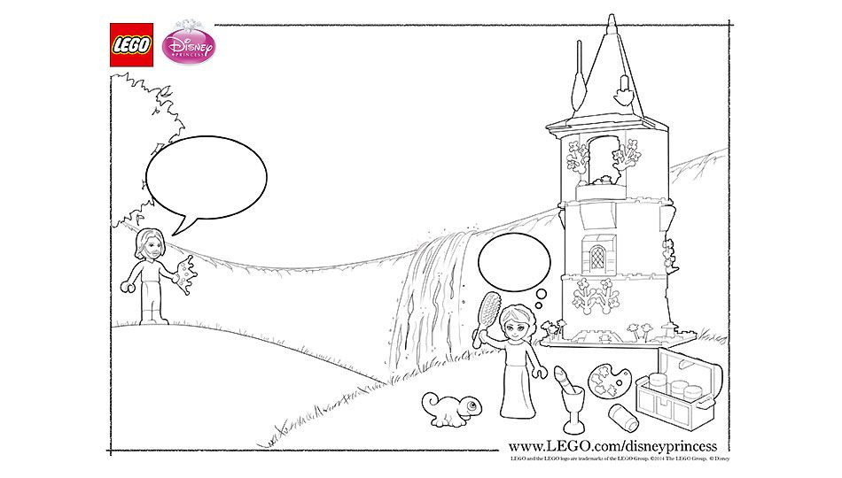 Lego Rapunzel S Tower Coloring Sheet Lego Coloring Sheet Lego