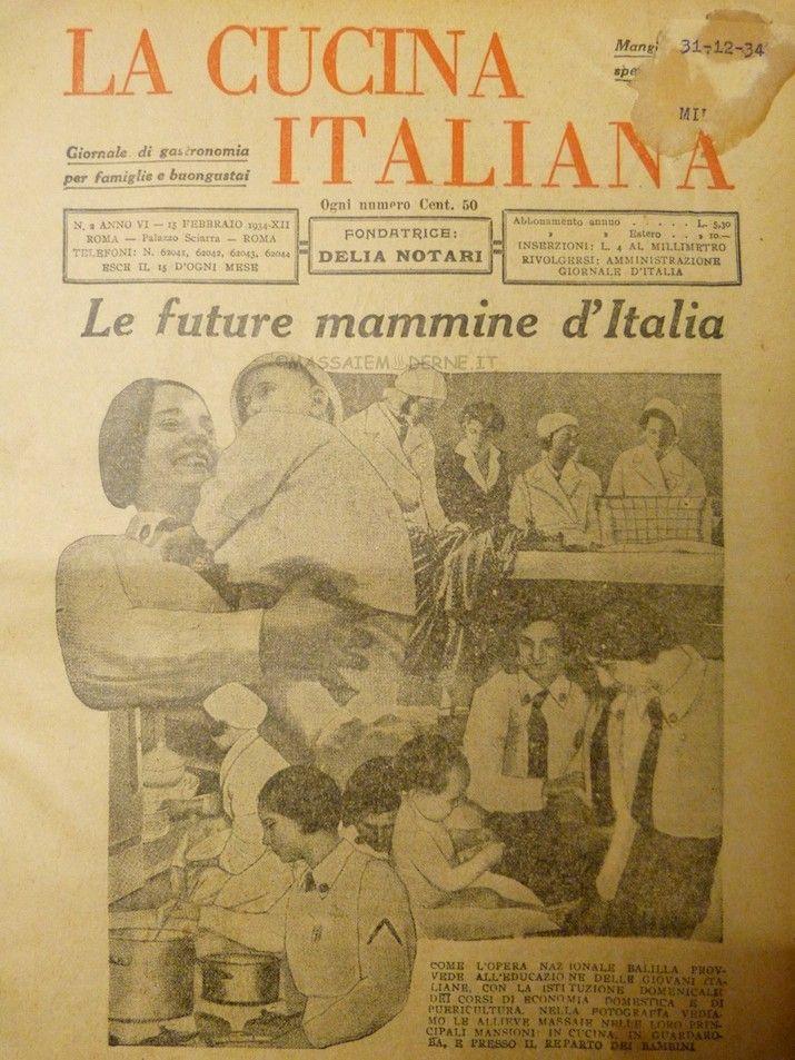 La Cucina italiana 1934  Vintage Magazine covers  Vintage magazines Movie posters Magazine