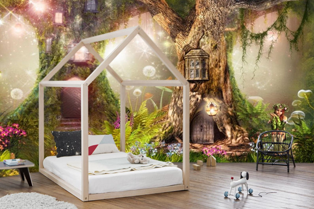 Wallpaper Adhesive Vinyl Magical Forest Nursery Magic Tree