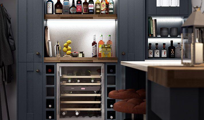 Ordinaire Milton Midnight Kitchen | Wickes.co.uk