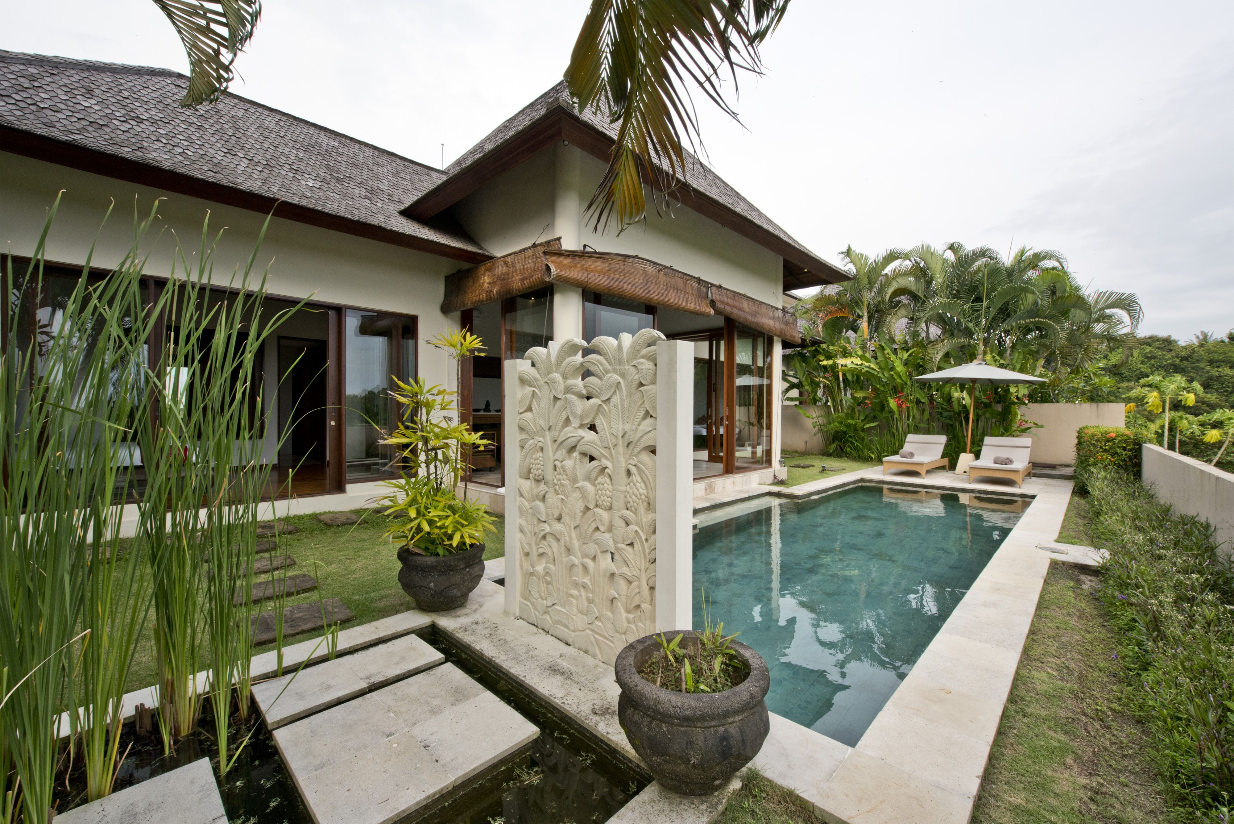 elegant modern swimming pool within our private villa bali