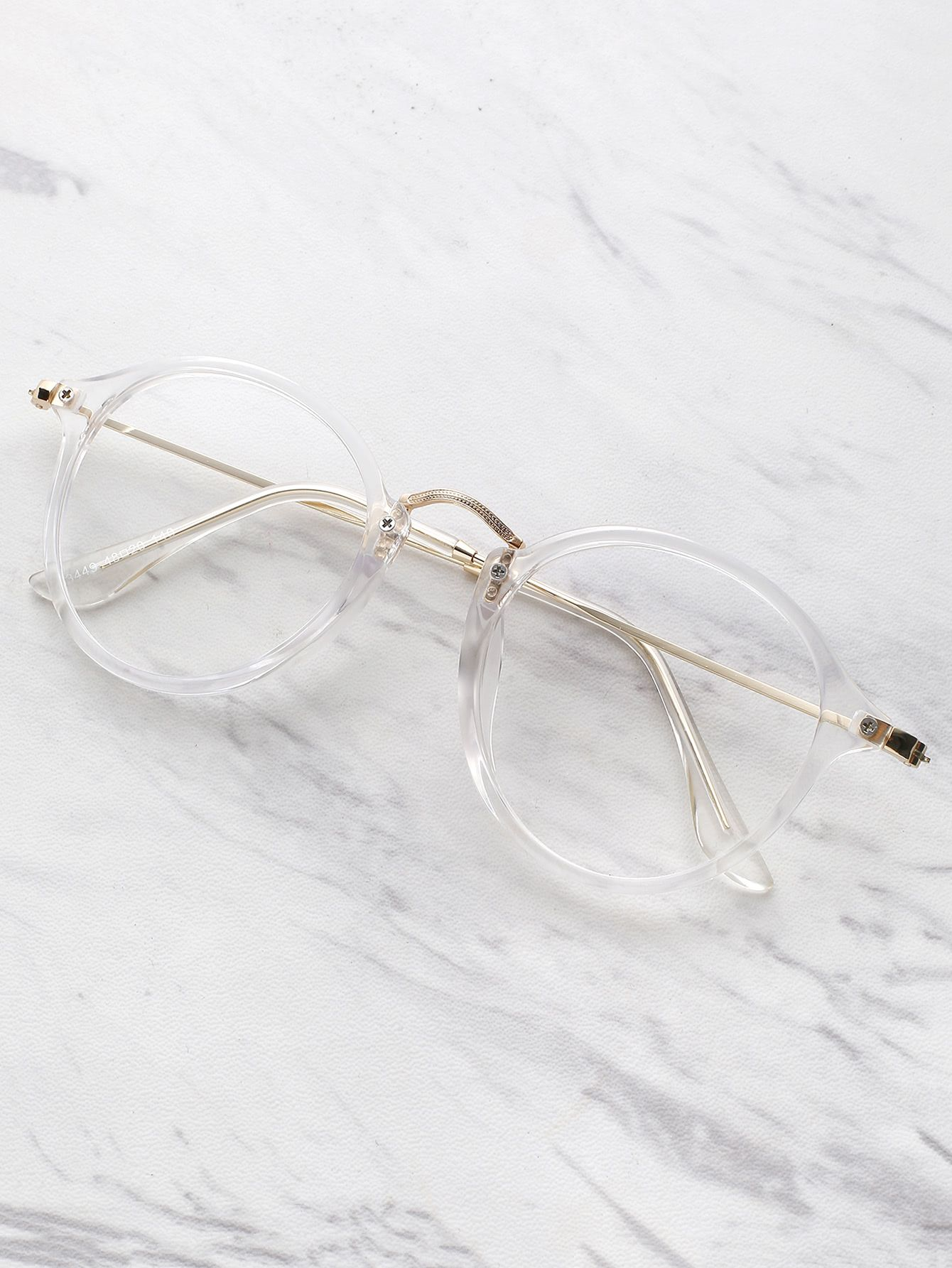 Lunettes transparent métallique -French SheIn(Sheinside) | Glasses ...