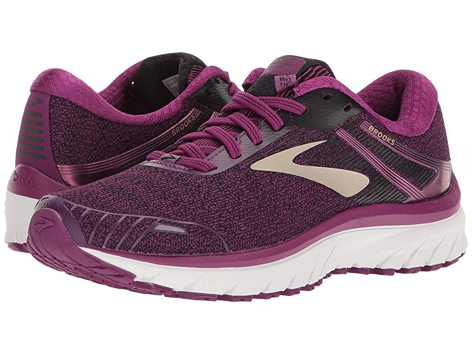 size 40 34b81 3c1da Brooks Adrenaline GTS 18 (Purple/Black/Champagne) Women's ...