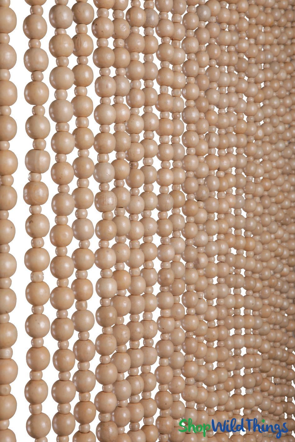 Wood Beaded Curtain Hayward Natural 35 Wide By 6 5 Long 31