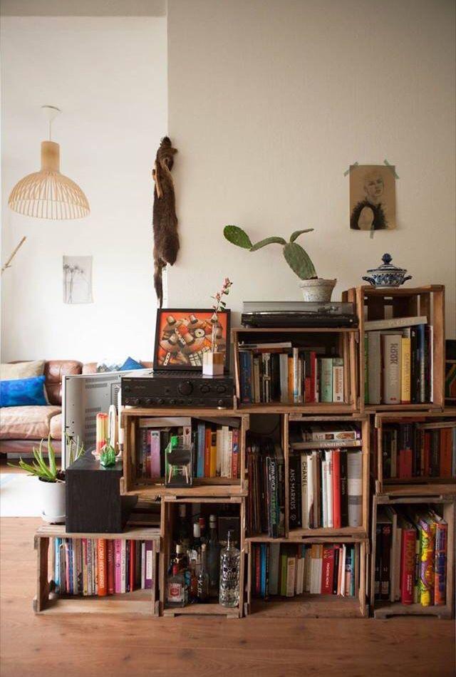 Makeshift Bookcase Amsterdam Apartment Apartment Bookshelves
