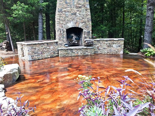 Image Result For Acid Stained Concrete Patio