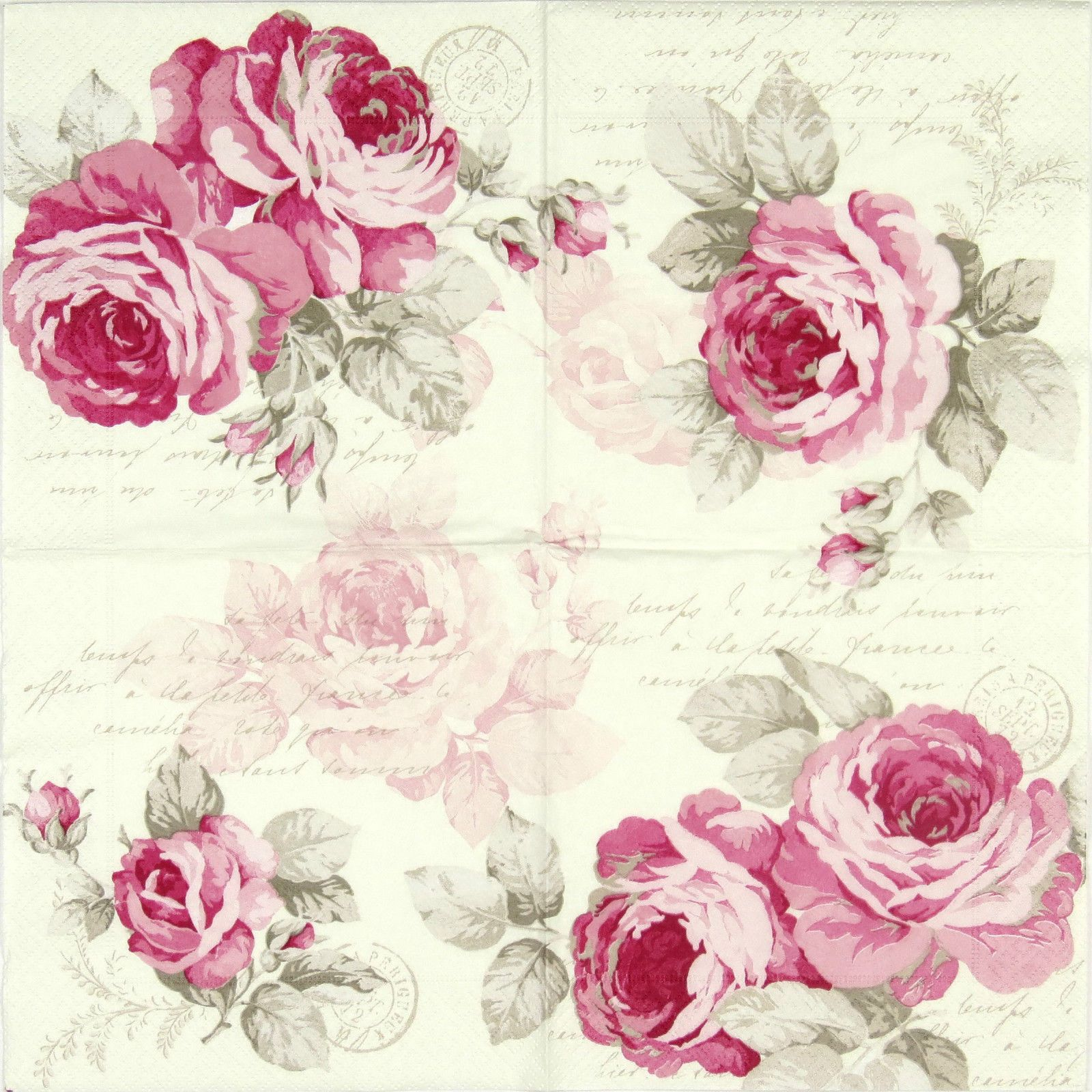 4x Single Lunch Party Paper Napkins for Decoupage Craft Vintage ...