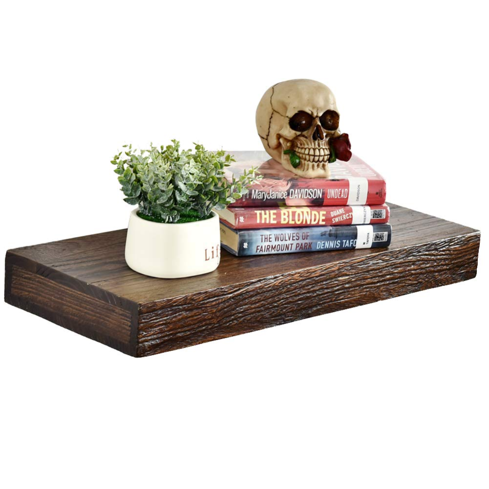 Amazon Com Welland Colin 10 Deep Wood Floating Corner Shelf 1 Pc Rustic Wall Shelves Wall Mounted Wood Rustic Walls Rustic Wall Shelves Wood Floating Shelves