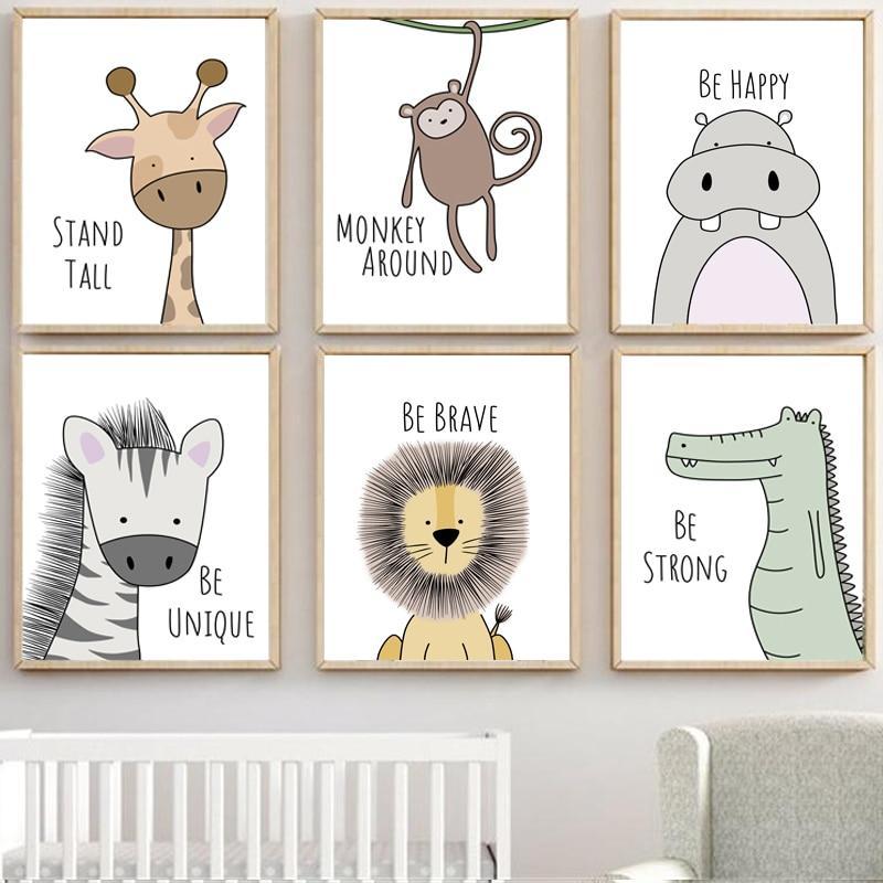 Inspiring Zoo Animals - Canvas Wall Art Inspiring Zoo Animals - Canvas Wall Art Wall Art canvas wall art