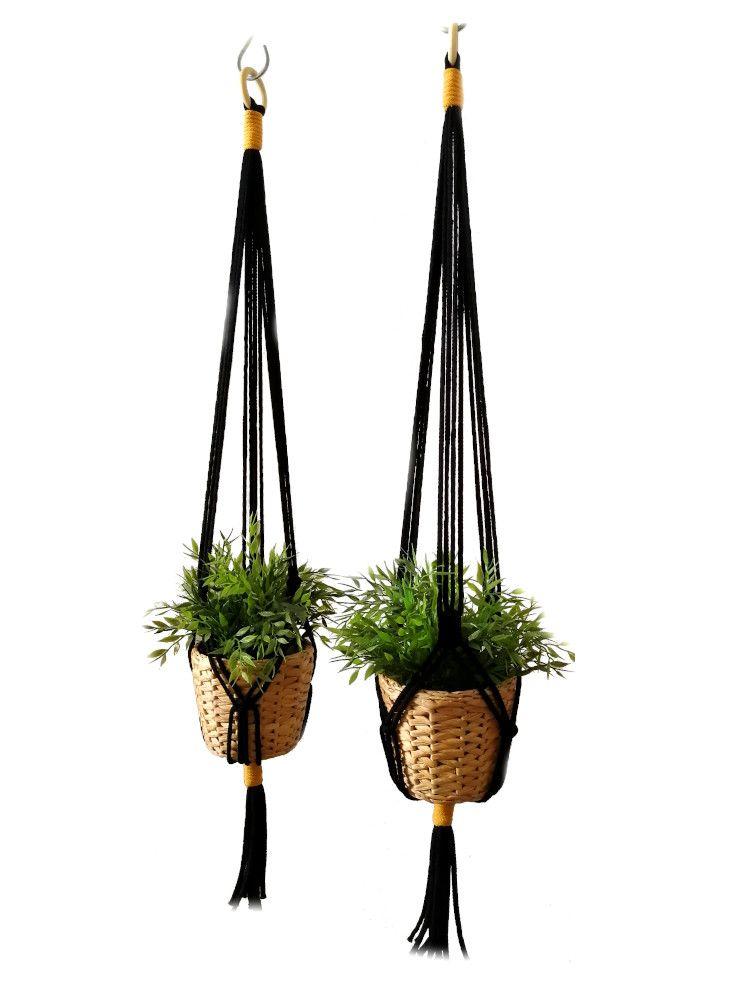 Pin On Wiszace Kwietniki Macrame Flower Pot Hanging
