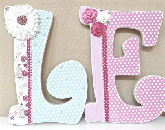 Custom Nursery Letters Baby Decor Shower Gift Hanging Wal