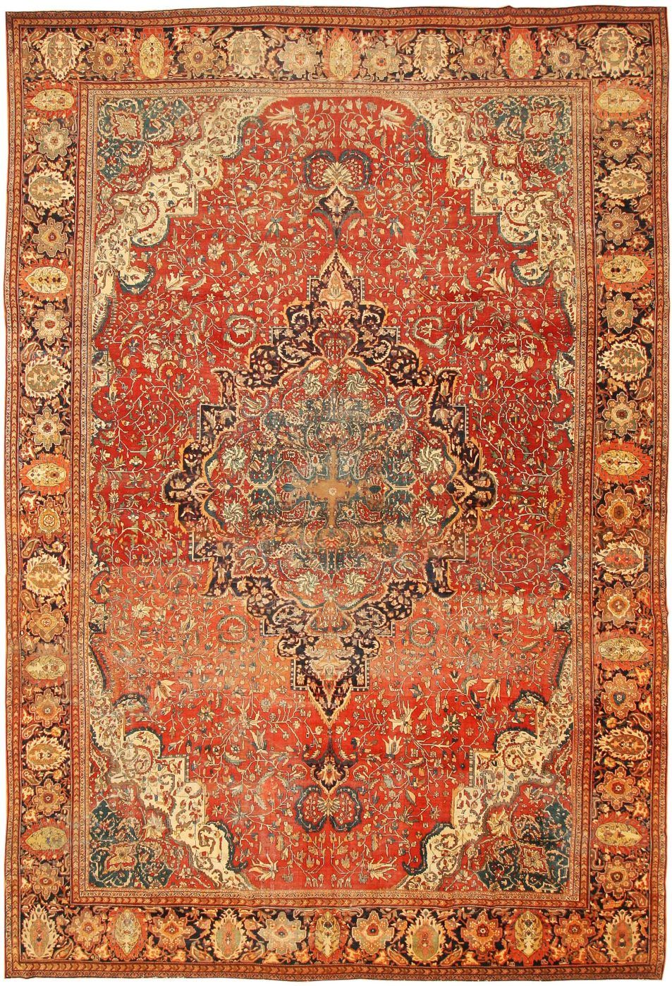 Antique Persian Tabriz Rug 46383 Antique Persian Rug Persian Carpet Persian Rug
