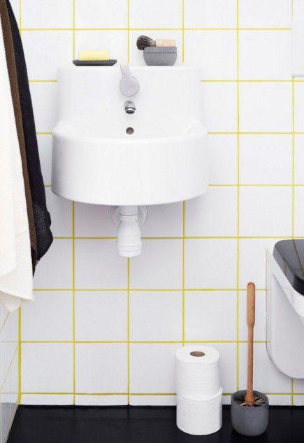 Swedish Yellow Grout Bathroom Hmm Yellow Bathroom Tiles White Bathroom Tiles Yellow Bathrooms