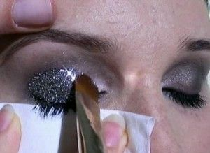 Applying Glitter Eye Makeup Tutorial And All The Tools You Need To