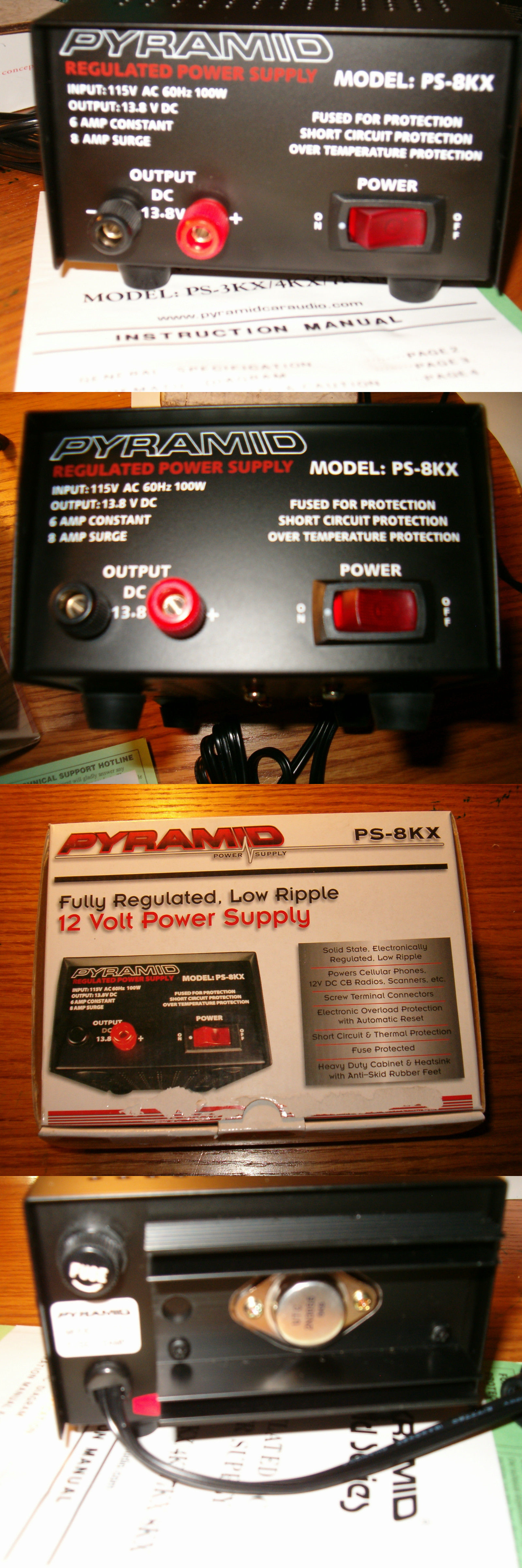Multipurpose Ac To Dc Adapters Pyramid Ps 8kx 12 Volt Power Supply Regulated Fully