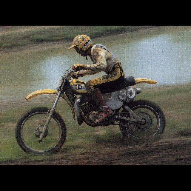 The Hurricane Pinning His Factory Yamaha 125 In The 1978