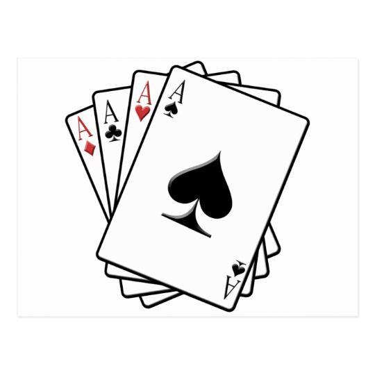 Four Aces Playing Cards Design   Zazzle.com.au