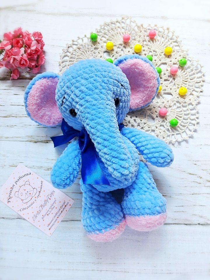 Plush elephant free pattern #crochetelephantpattern