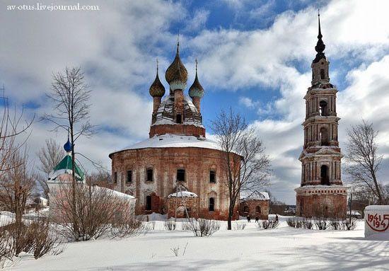 Church of Kazan Mother of God Icon -  is an old Russian Village of Yaroslavl Oblast