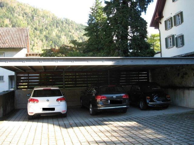 flachdach carport 6 geneigt aus stahl f r 3 autos carport flachdach ger teschuppen stahl. Black Bedroom Furniture Sets. Home Design Ideas