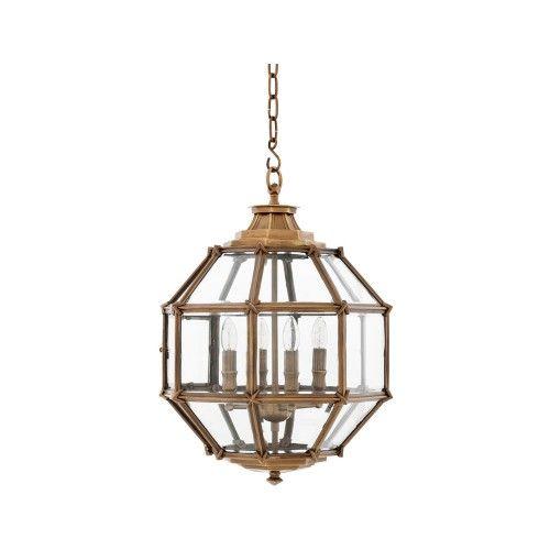 eichholtz owen lantern traditional pendant lighting. Eichholtz Owen Lantern - Antique Brass Small Traditional Pendant Lighting