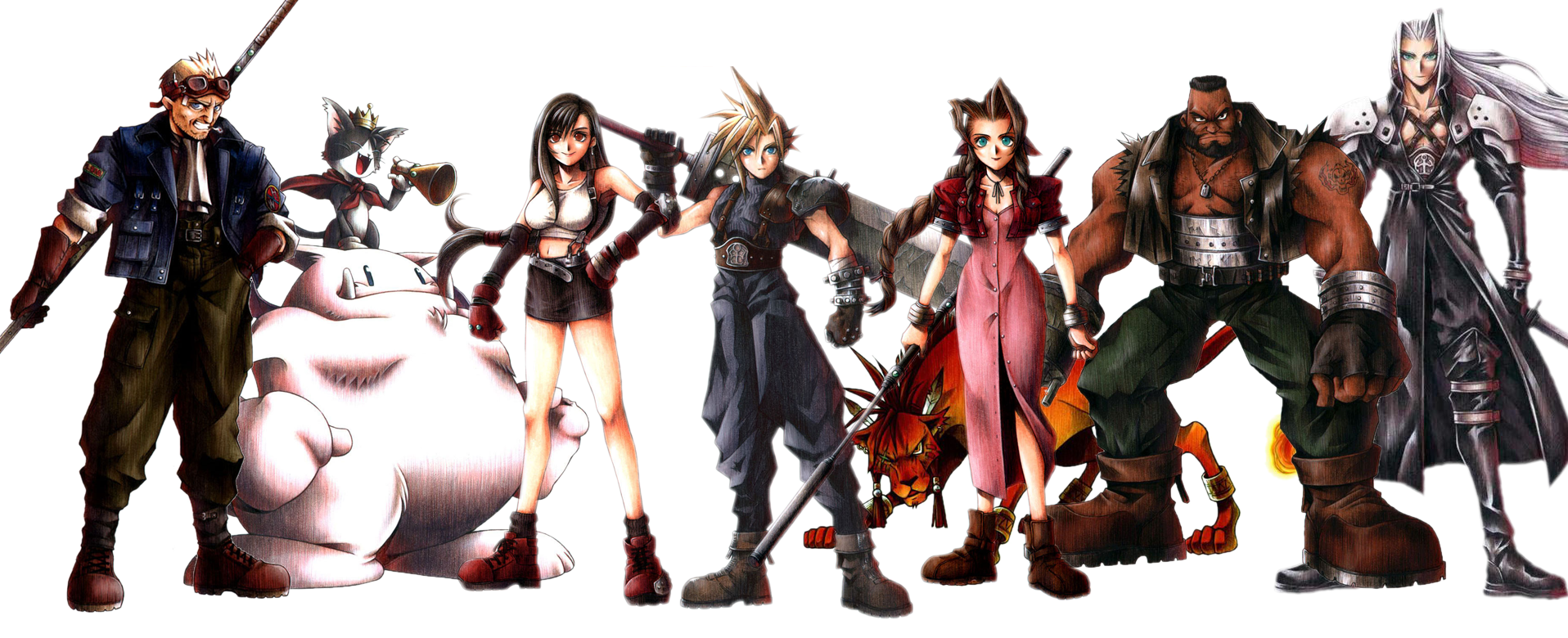 Final Fantasy 7 Characters Pictures Final Fantasy 7 Vii Cast Of Playable Characters Final Fantasy Characters Final Fantasy Final Fantasy Vii