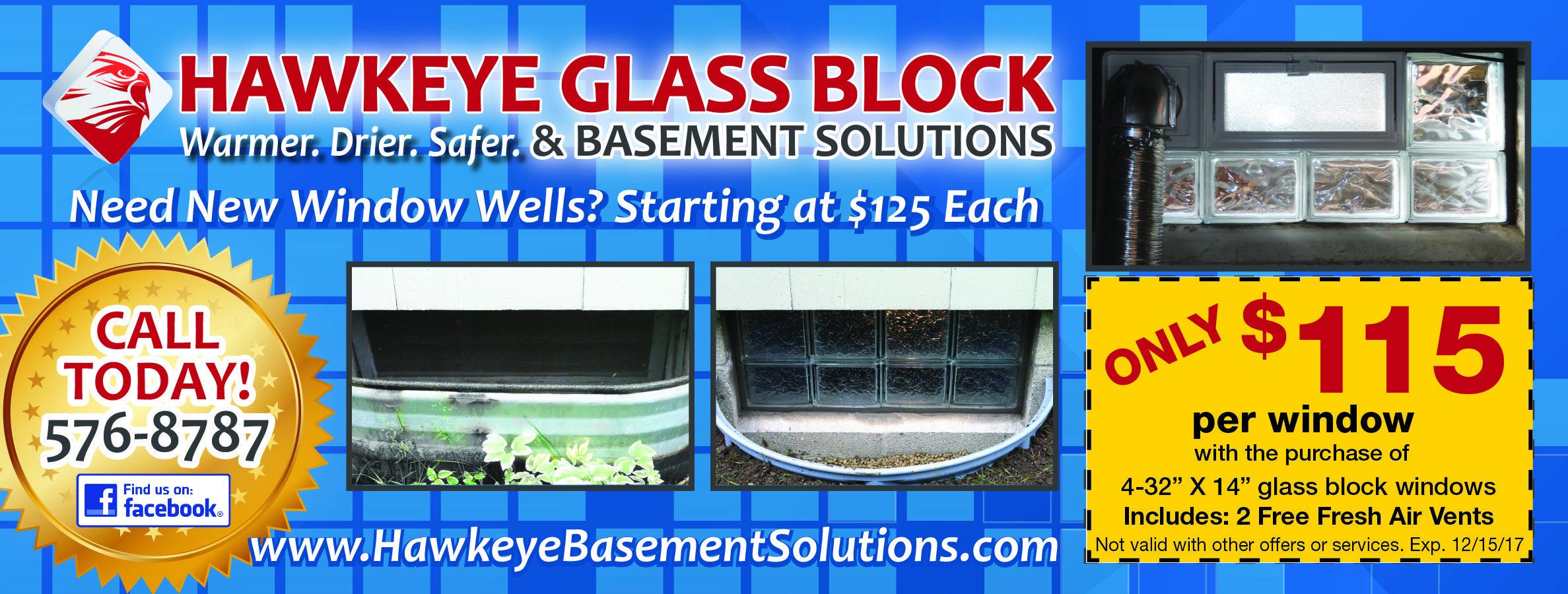 Hawkeye Glass Block Window Well Glass Blocks Glass Block Windows