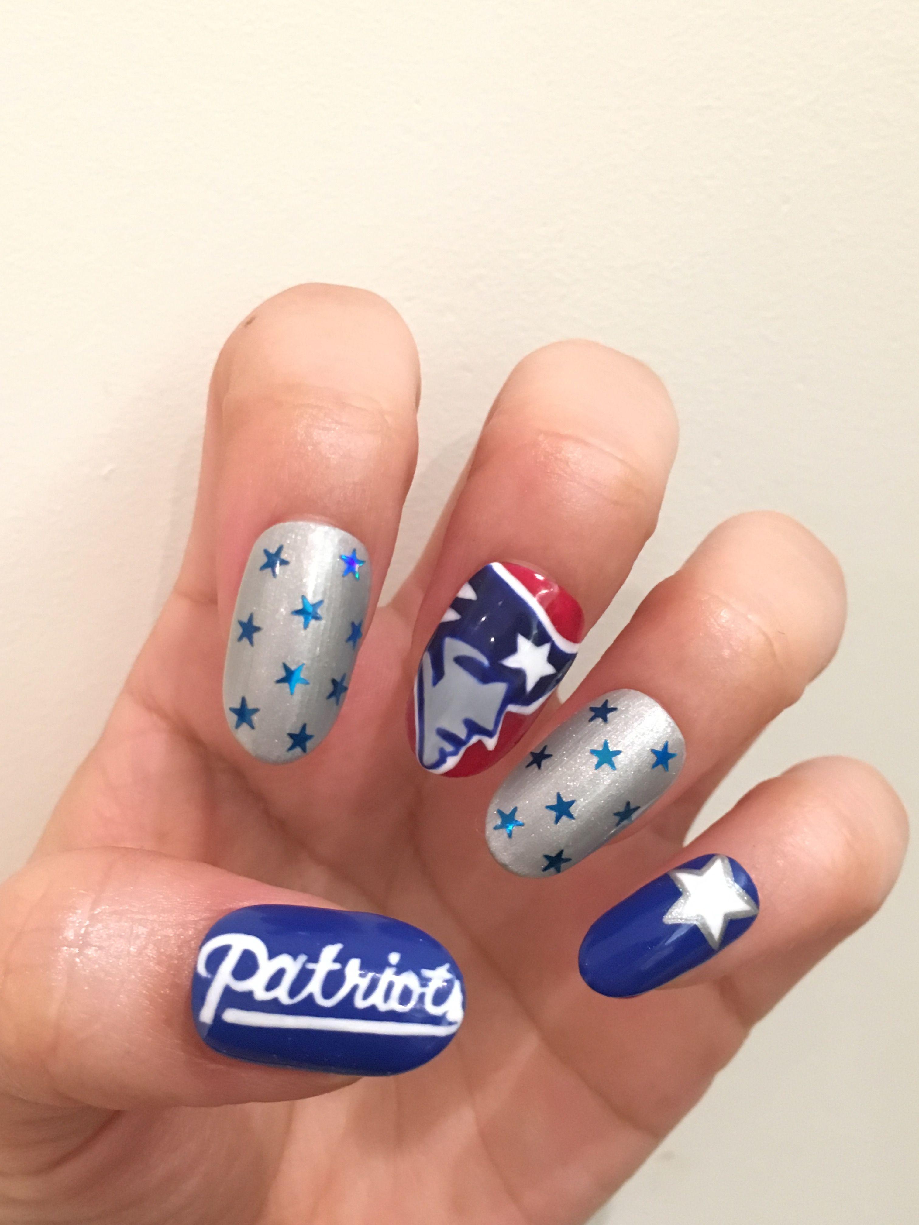 New England Patriots Nail Art | Nails | Pinterest | England patriots ...