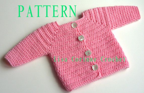 Baby Girl Sweater Crochet Pattern Baby Sweater Pattern Crochet