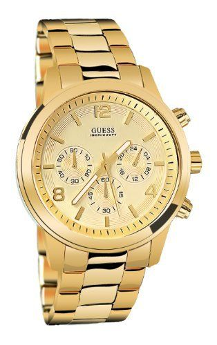 4a54071c7 GUESS Men's U15061G2 Chronograph Goldtine Stainless Steel Watch GUESS.  $105.00. 10 year warranty. Mens watch. Gold-tone metal. Steel design. Water  resistant