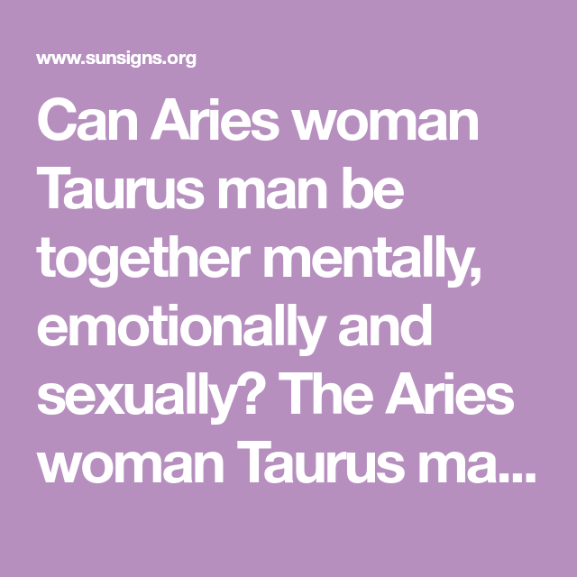 aries man aries woman sexually