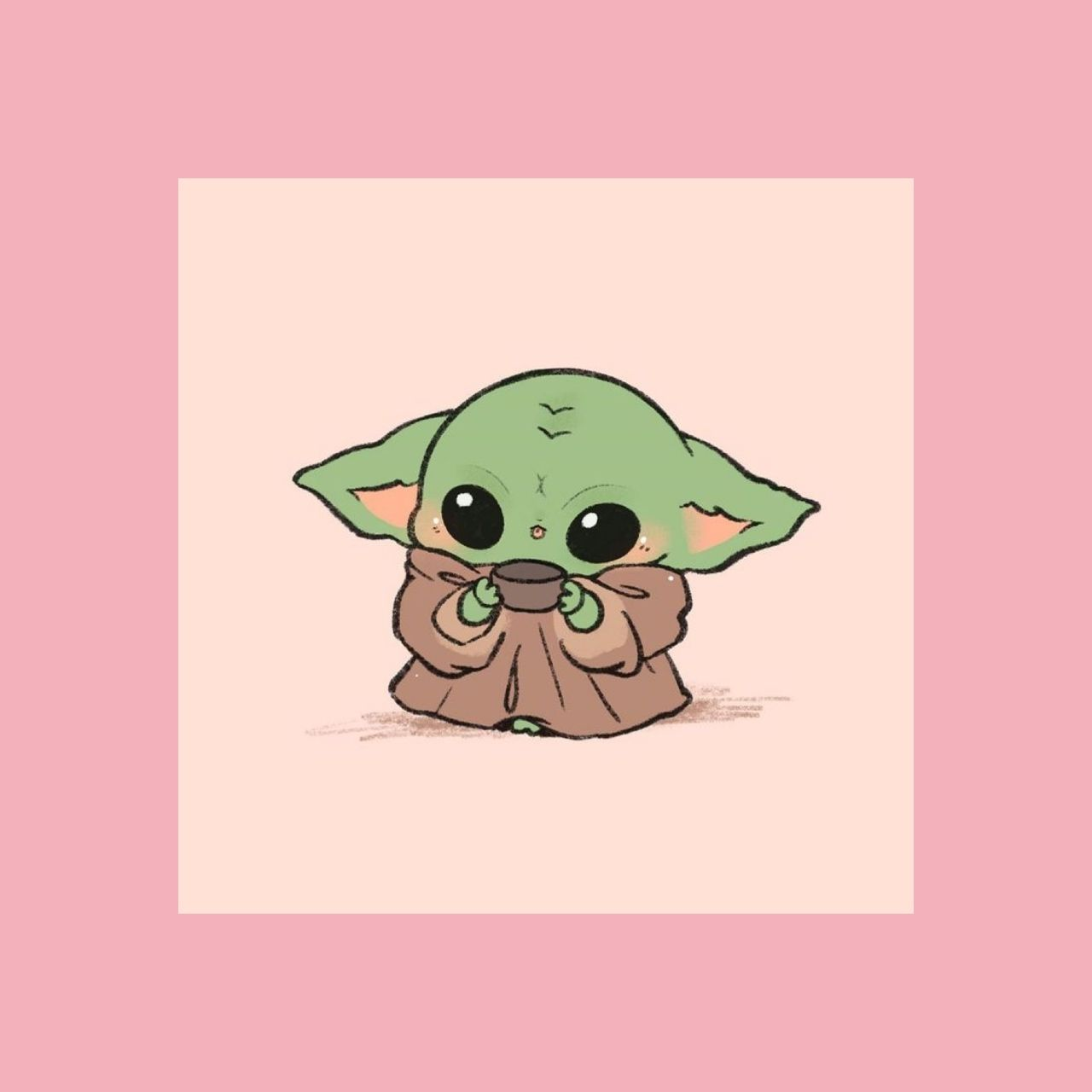 Pink Baby Yoda Yoda Wallpaper Cute Cartoon Wallpapers Yoda Drawing