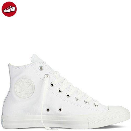 Converse Chuck Taylor All Star Mono Leather Hi, Unisex –  Erwachsenen-Sneaker, weiß