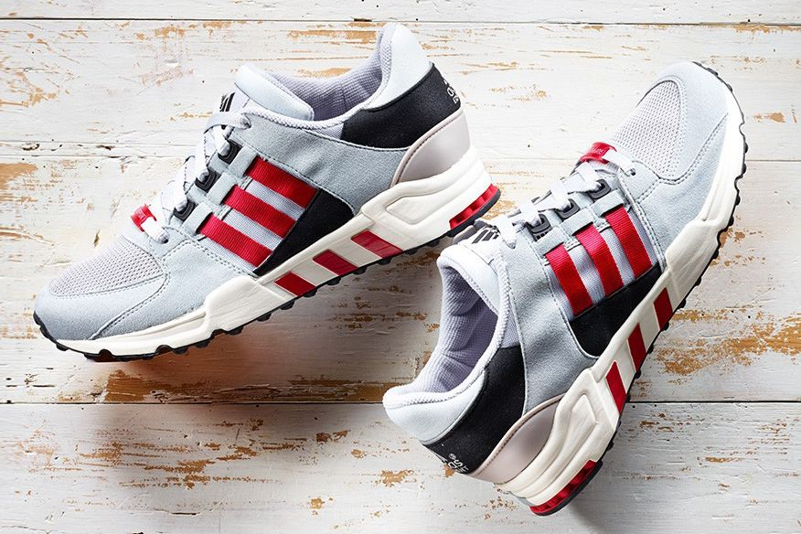 best service 590e1 a9eab adidas Originals has released its Equipment Support Running 93 in an  eye-catching black, white and scarlet red colorway. The German brand has  seen huge ...