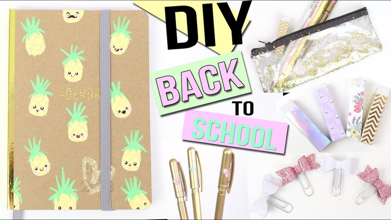 Favori DIY BACK TO SCHOOL KAWAII ┋ PAILLETTES & DORÉES Francais | SCHOOL  ZV91