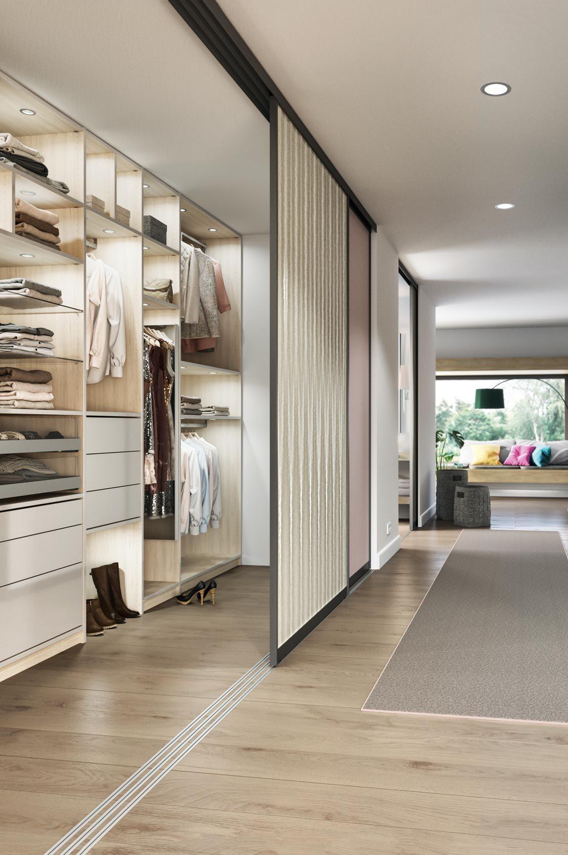 Die Perfekte Ankleide Fur Sie Mit Eleganten Schiebeturen Von Cabinet Einbauschrank Begehbarer Kleiderschrank Ankleideraum Design