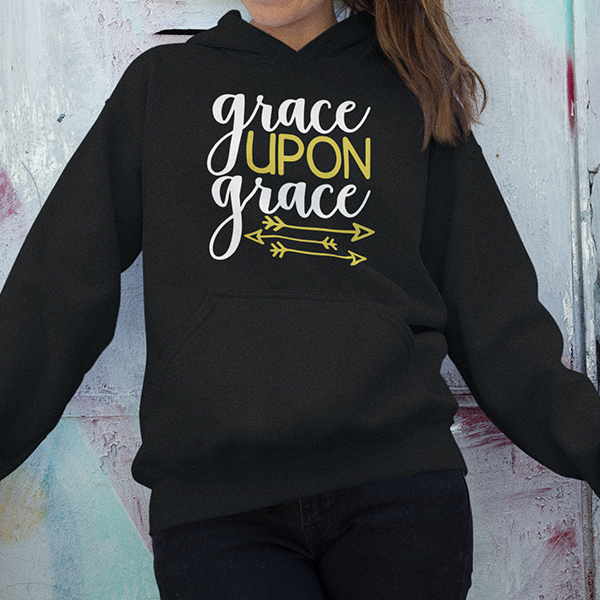Grace upon grace Christian hoodie | Christian apparel