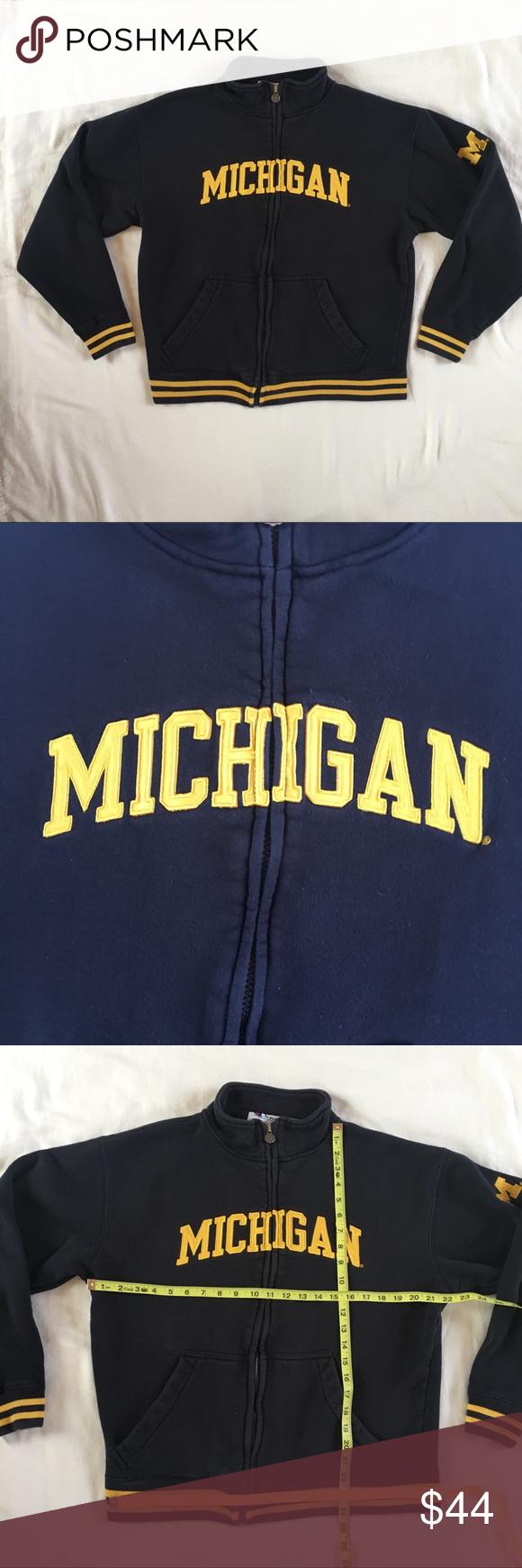 Michigan Champion Heavy Duty Zip Up Medium Zip Ups Sweatshirts Hoodie Sweatshirts [ 1740 x 580 Pixel ]