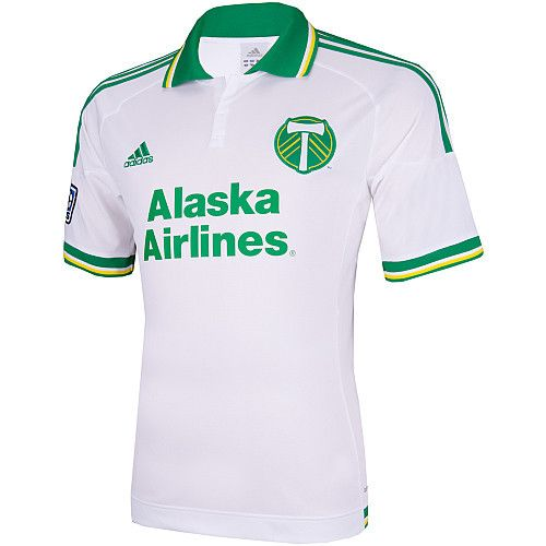 new style 3d7a0 57afd Portland Timbers adidas White Retro 3rd Kit Youth Boys ...
