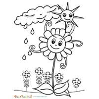 Coloriage Printemps Pluie.Coloriages De Printemps Periscolaire Winter Art
