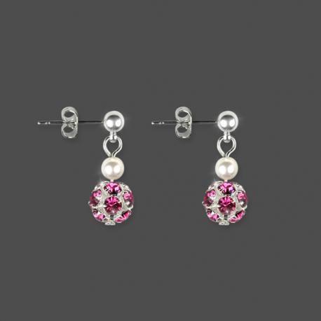Mariage Bijoux Blanc Cristal Strass Boucles d/'oreilles créoles plaqué argent clous d/'oreilles