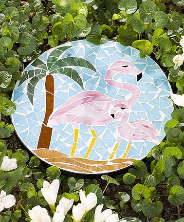 Love this Flamingo Mosaic Stepping Stone on #zulily! #zulilyfinds
