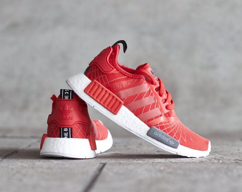promo code 9070e f12aa Best Quality Adidas NMD R1 Red Spider White S79385 2018 Online
