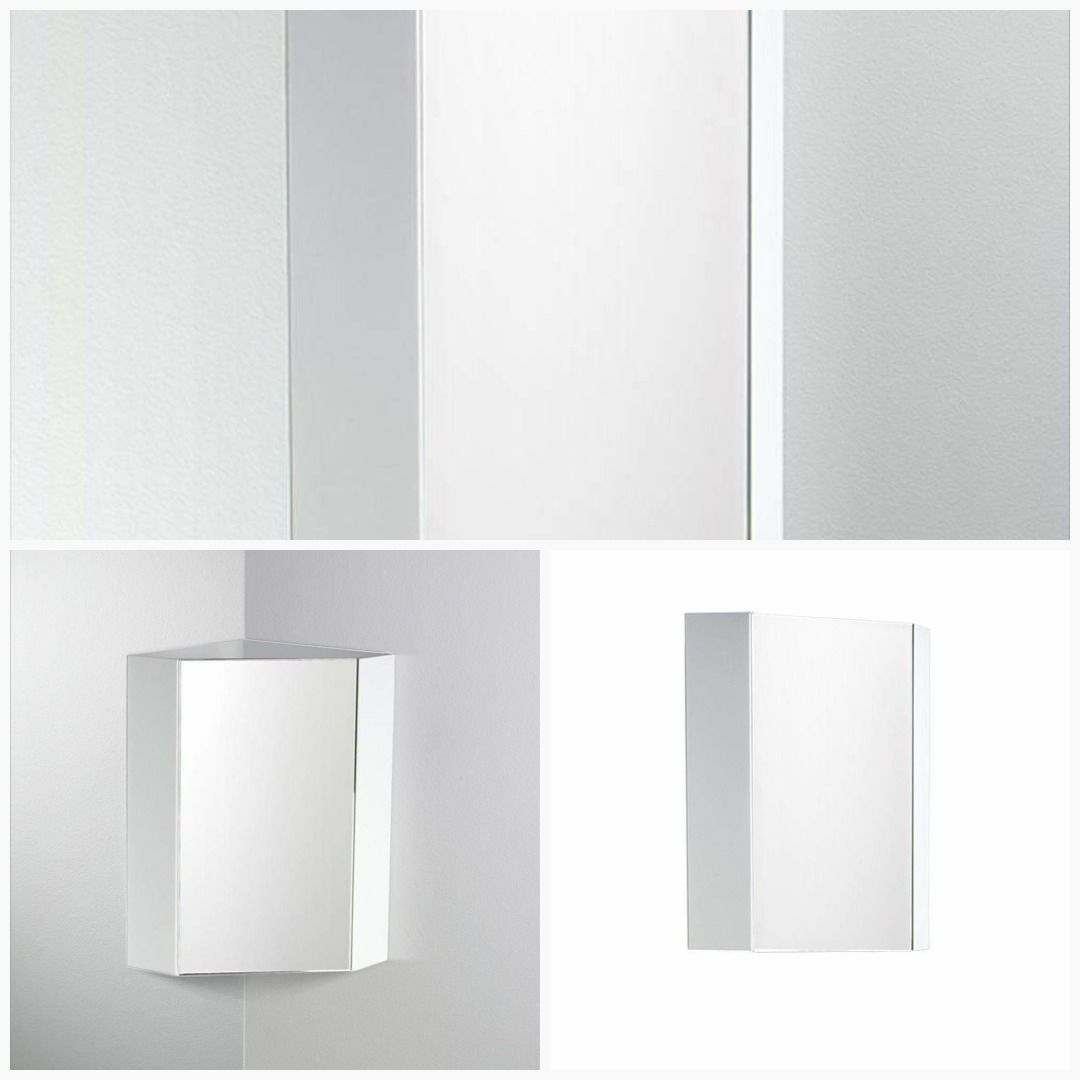 White Corner Bathroom Medicine Cabinets