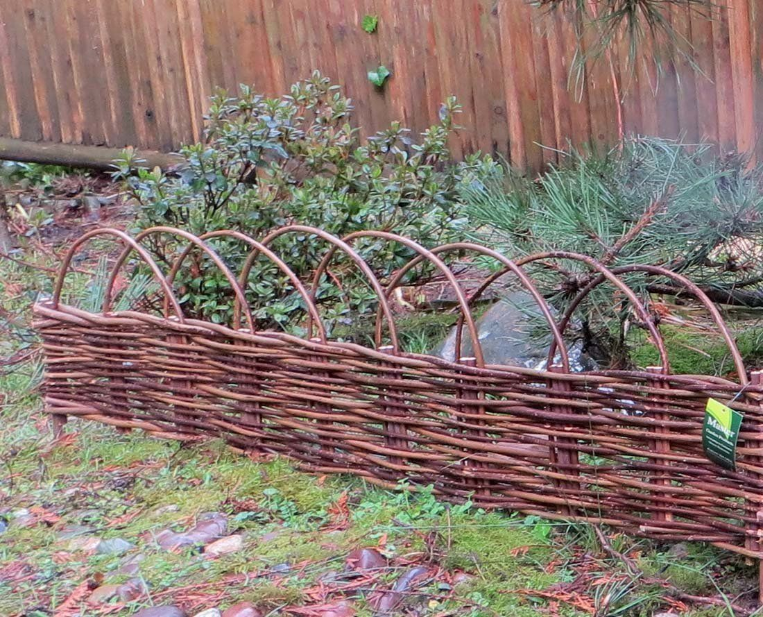 MGP Woven Willow Edging with Arc Top 16 H x 47 L 4 *** You