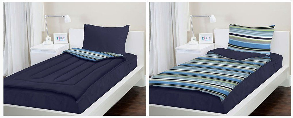 Not Just For Kids Though Zip Up Bedding Connects The Comforter To Fitted Sheet So That Making Bed Means You It Perfect Bunks Too